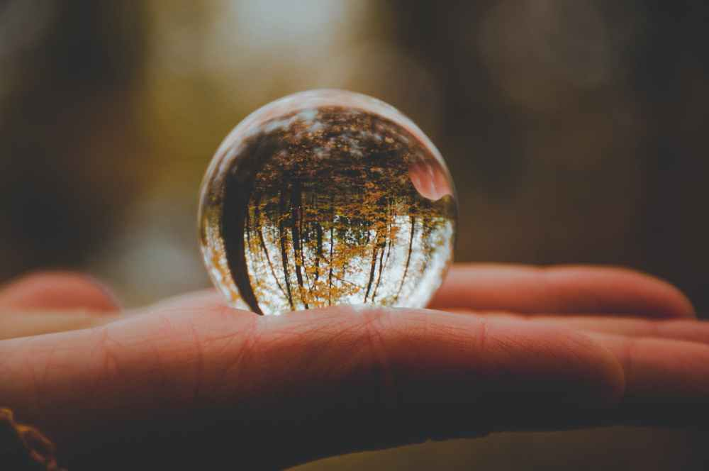 close up photo of crystal ball